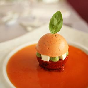Tomato Mozzarella New Age Spicy Tomato Gaspacho