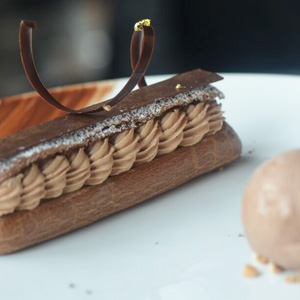 Dulce De Leche and Chocolate Eclair