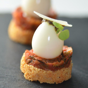 Mini Galangal Tomato Tart