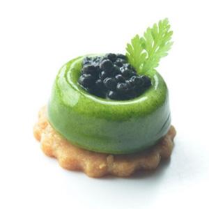 Potato Leak Royal Sour Cream and Caviar