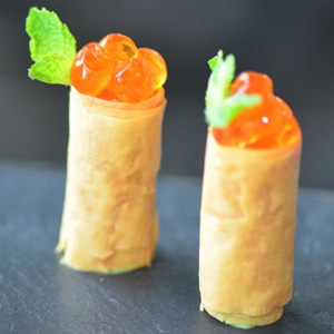 Salmon Mousse and Roe Gavotte