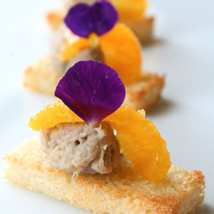 Duck Rillette and Orange on a Crispy Finger