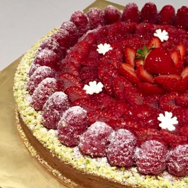 Red Fruit Amandine Tart